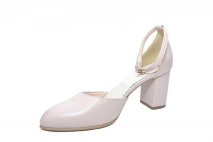 Pantofi Dama Piele Naturala Nude Mora D02053 2