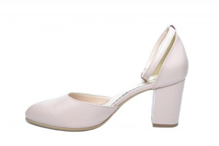 Pantofi Dama Piele Naturala Nude Mora D02053 1