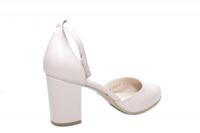 Pantofi Dama Piele Naturala Nude Mora D02053 3