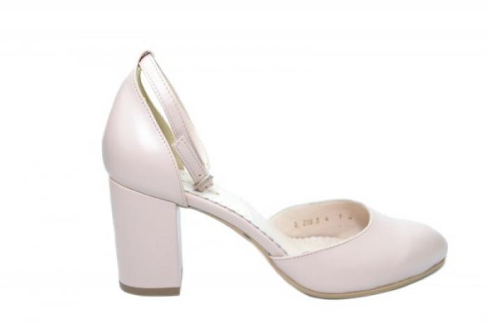 Pantofi Dama Piele Naturala Nude Mora D02053 0