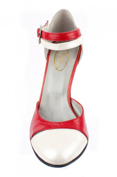 Pantofi Dama Piele Naturala Albi Lena D0013 3