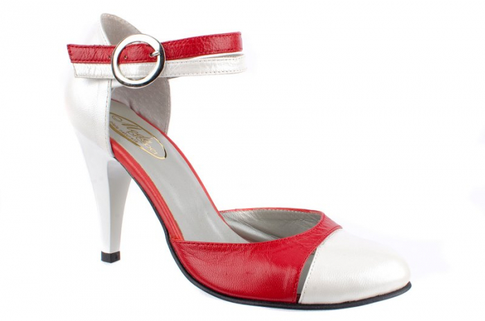 Pantofi Dama Piele Naturala Albi Lena D0013 0