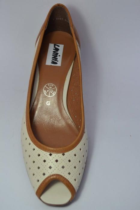 Pantofi cu toc Piele Naturala Bej Relia D00459 6