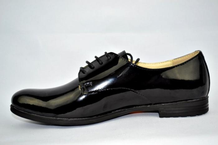 Pantofi Oxford Piele Naturala Negri Melina D00894 1