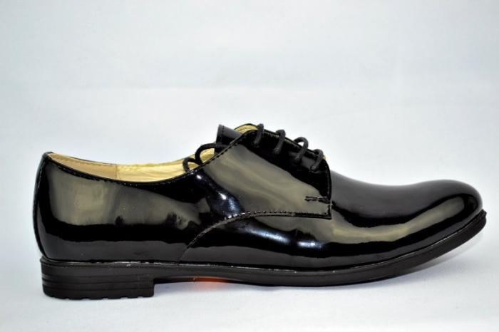 Pantofi Oxford Piele Naturala Negri Melina D00894 0