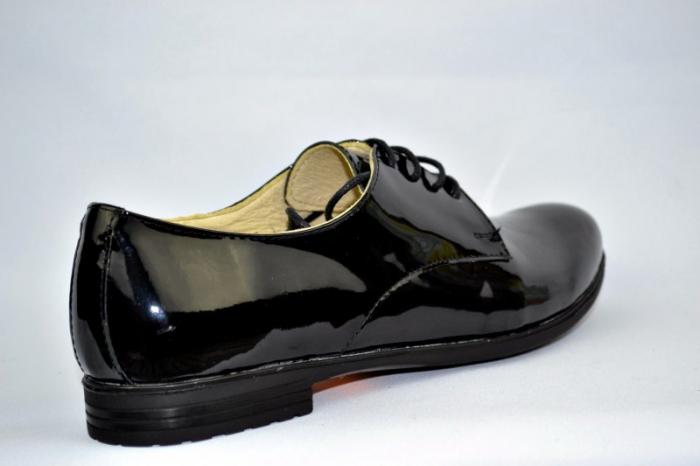 Pantofi Oxford Piele Naturala Negri Melina D00894 4