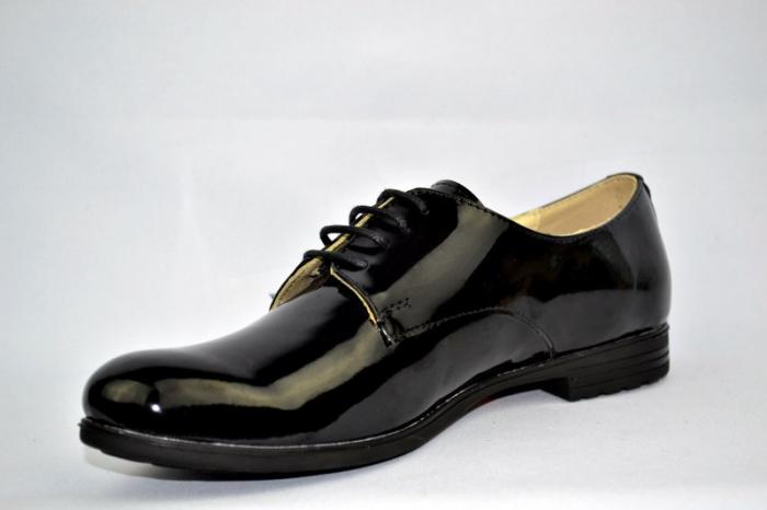 Pantofi Oxford Piele Naturala Negri Melina D00894 2