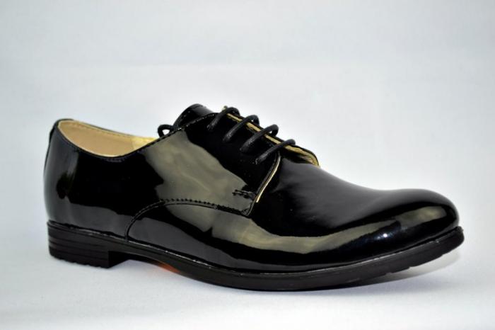 Pantofi Oxford Piele Naturala Negri Melina D00894 3