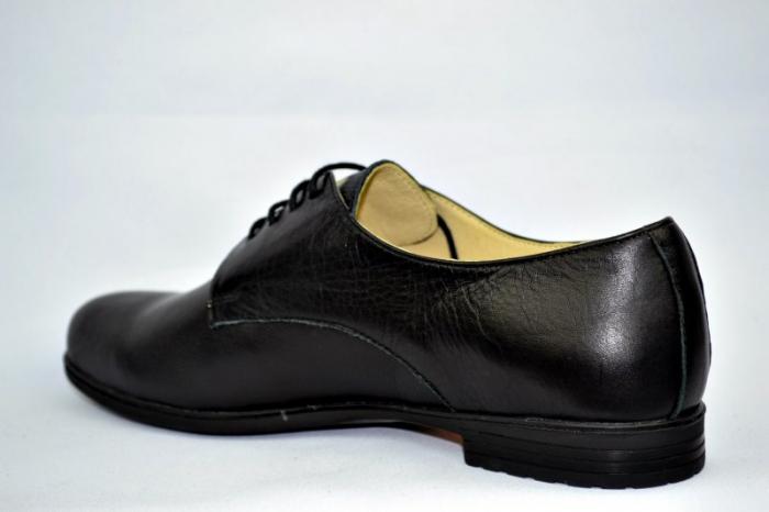 Pantofi Casual Piele Naturala Negri Elina D00895 5