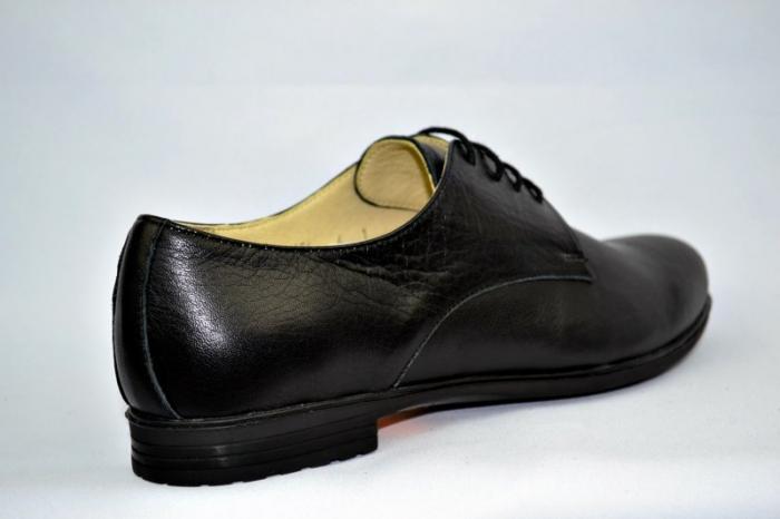 Pantofi Casual Piele Naturala Negri Elina D00895 4