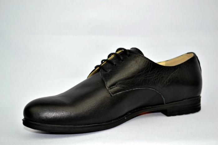 Pantofi Casual Piele Naturala Negri Elina D00895 2