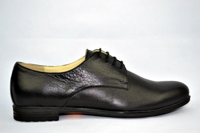 Pantofi Casual Piele Naturala Negri Elina D00895 0
