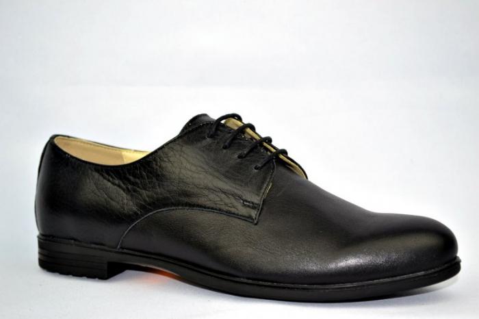 Pantofi Casual Piele Naturala Negri Elina D00895 3