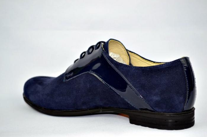 Pantofi Oxford Piele Naturala Bleumarin Viki D00897 5
