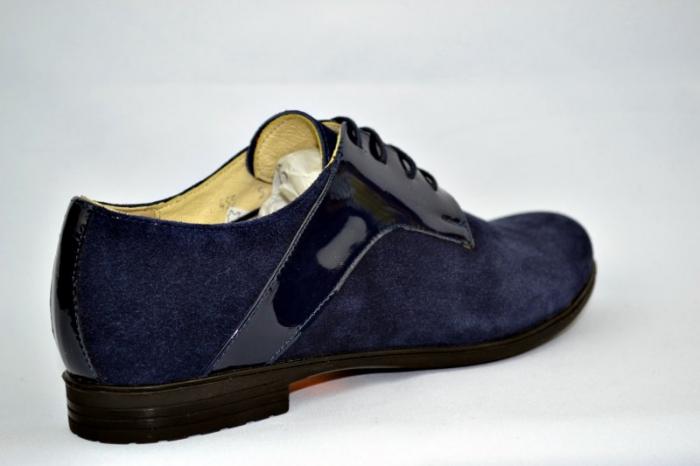 Pantofi Oxford Piele Naturala Bleumarin Viki D00897 4