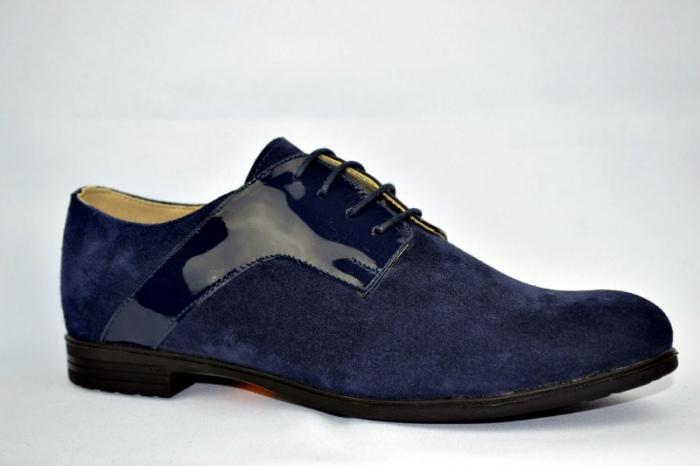 Pantofi Oxford Piele Naturala Bleumarin Viki D00897 3