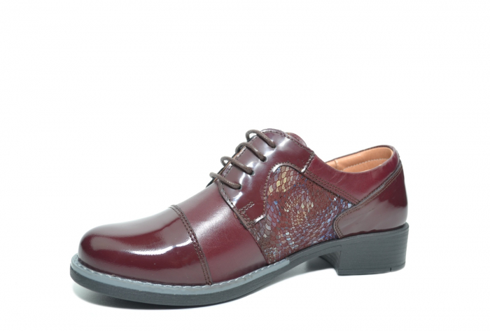 Pantofi Oxford Piele Naturala Grena Anita D02204 2