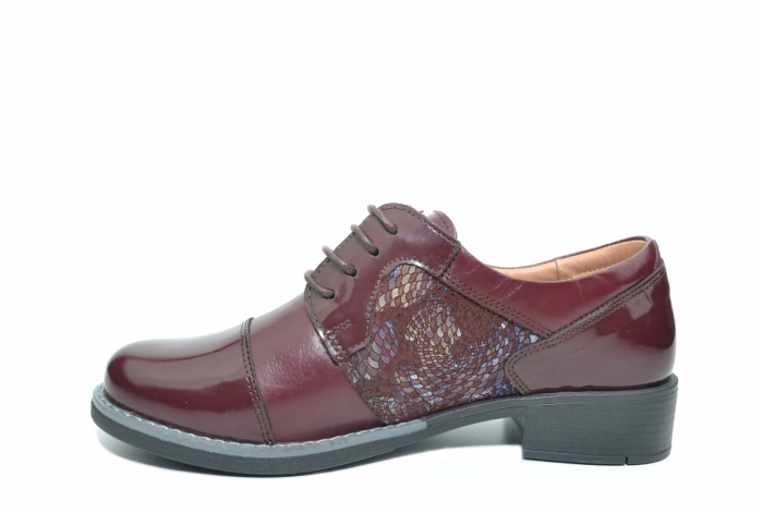 Pantofi Oxford Piele Naturala Grena Anita D02204 1