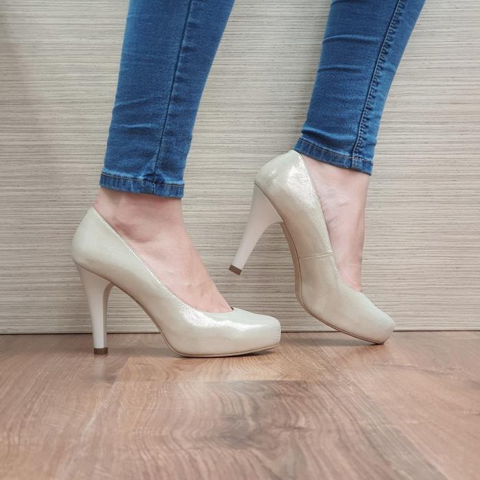 Pantofi cu toc Piele Naturala Aurii Mira D02495 0