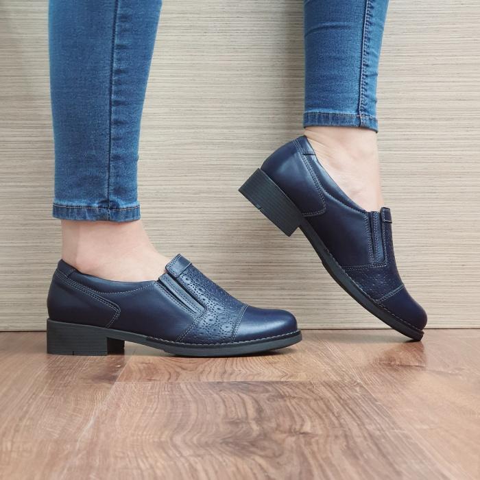 Pantofi Casual Piele Naturala Bleumarin Lucille D02467 0