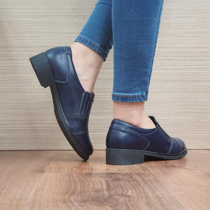Pantofi Casual Piele Naturala Bleumarin Lucille D02467 3