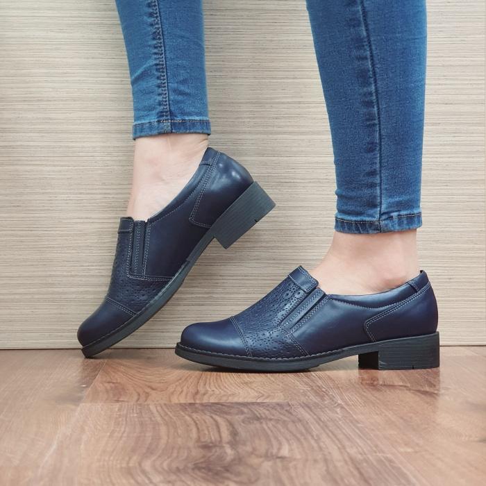 Pantofi Casual Piele Naturala Bleumarin Lucille D02467 1