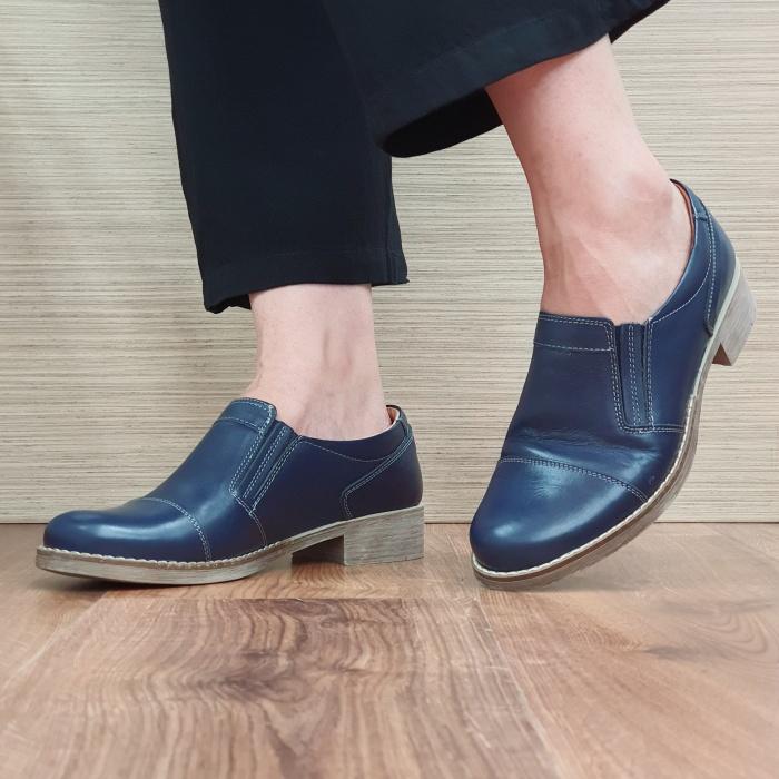 Pantofi Casual Piele Naturala Bleumarin Lucille D02522 [2]
