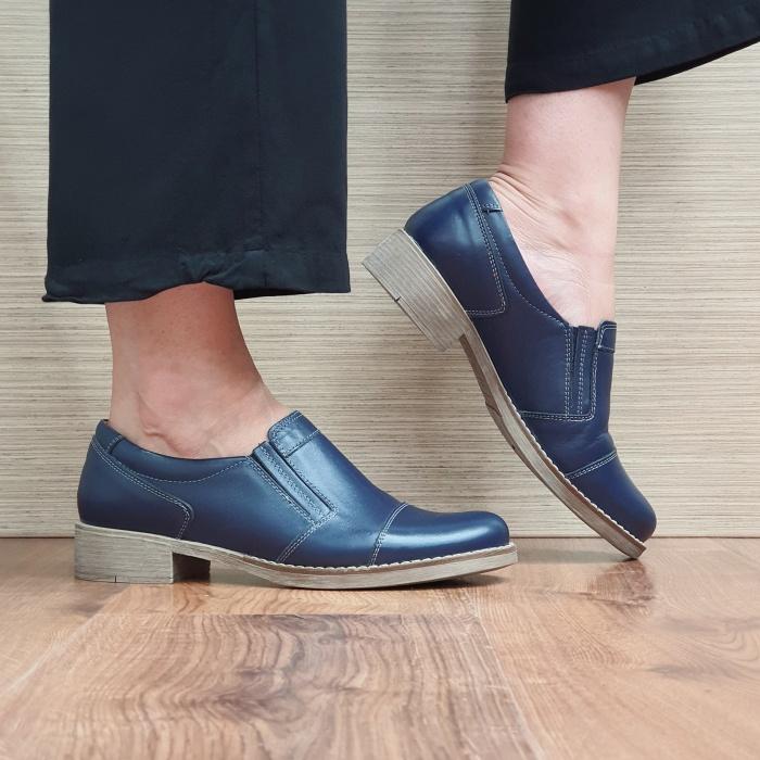 Pantofi Casual Piele Naturala Bleumarin Lucille D02522 [0]