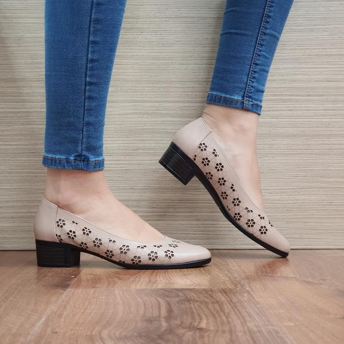 Pantofi cu toc Piele Naturala Cafenii Judy D02457 0
