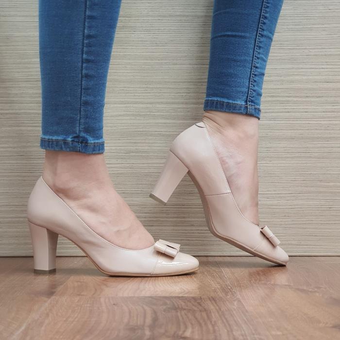 Pantofi cu toc Piele Naturala Corvaris Nude Coria D02479 0