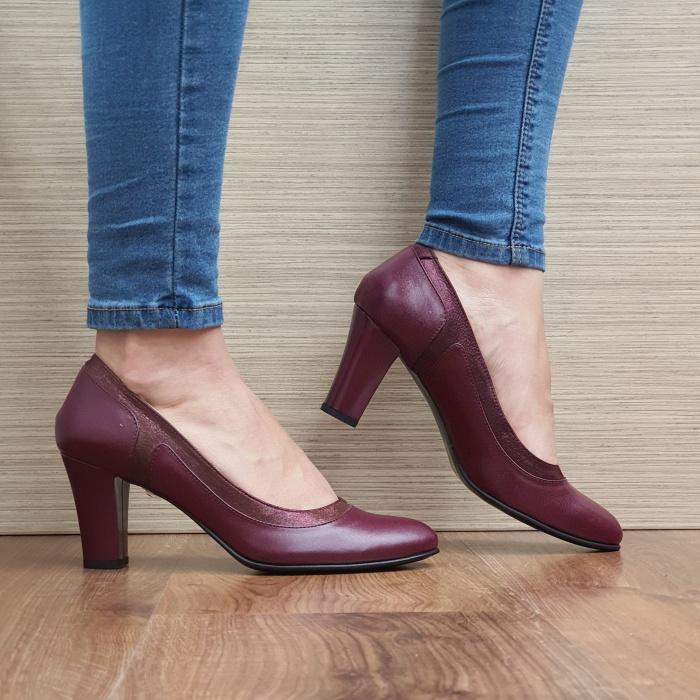 Pantofi cu toc Piele Naturala Grena Genoveva D02491 0