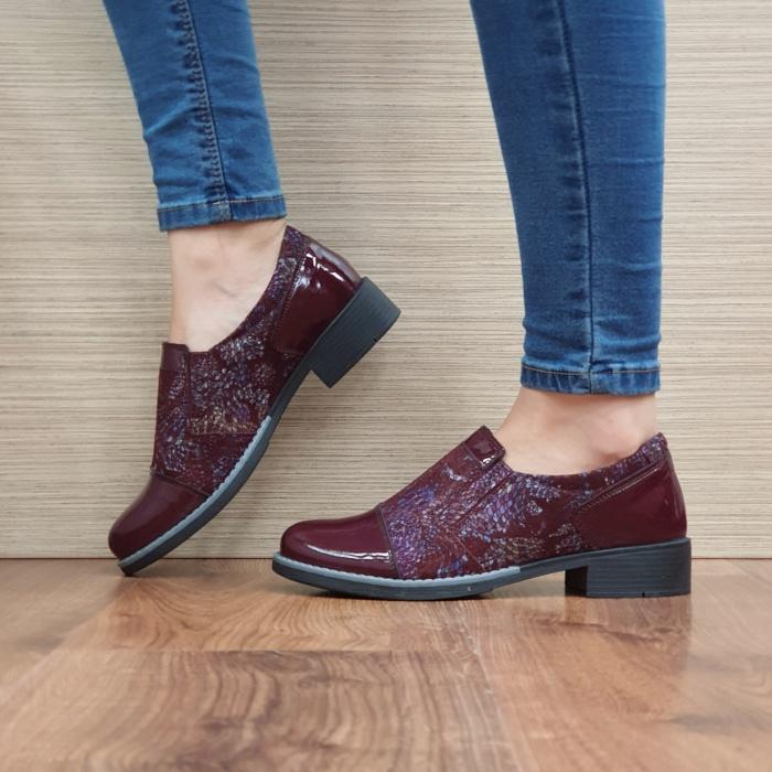Pantofi Casual Piele Naturala Grena Lucille D02520 1