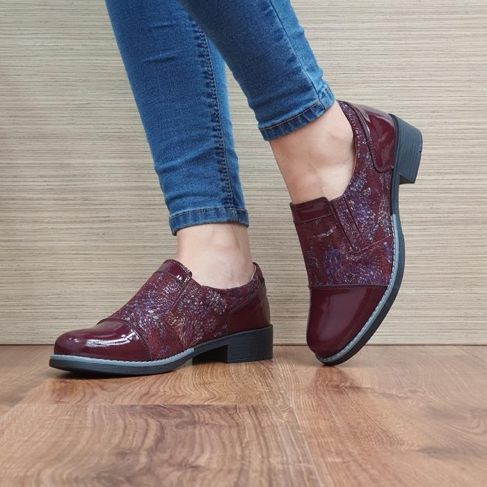 Pantofi Casual Piele Naturala Grena Lucille D02520 2