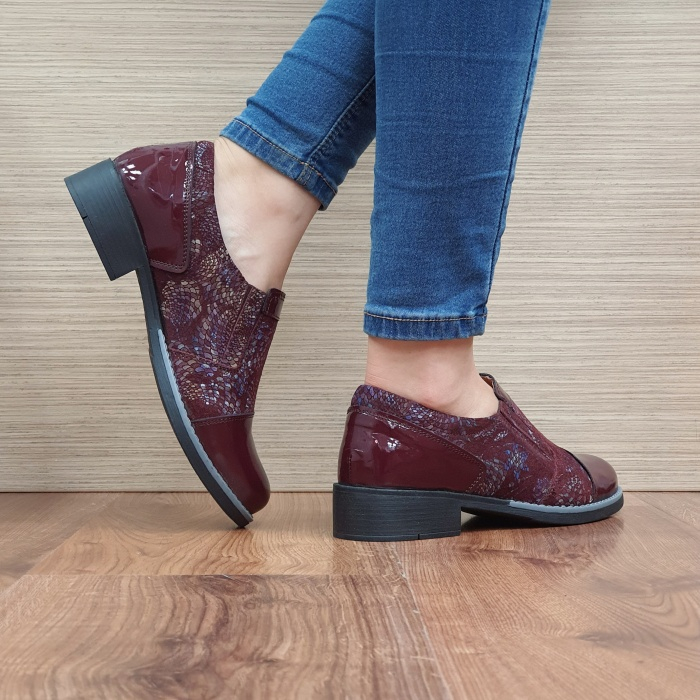 Pantofi Casual Piele Naturala Grena Lucille D02520 3
