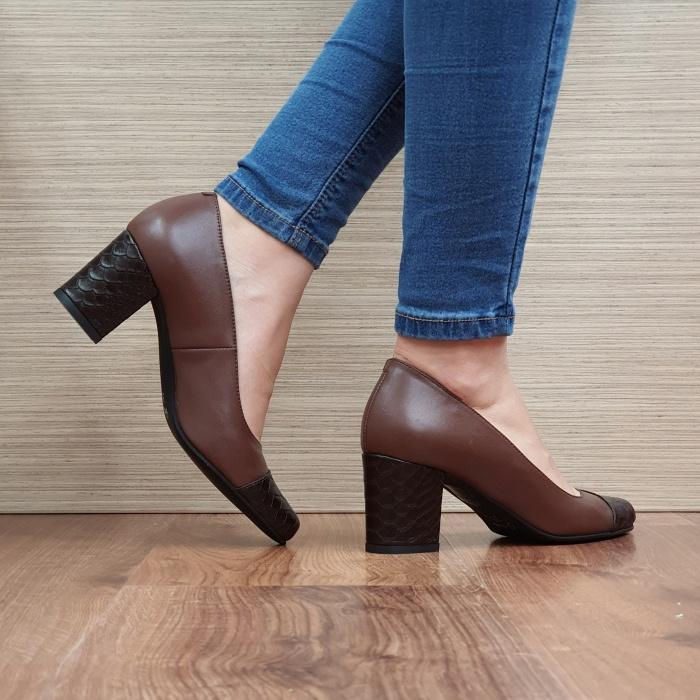 Pantofi cu toc Piele Naturala Guban Maro Evgenya D02513 3