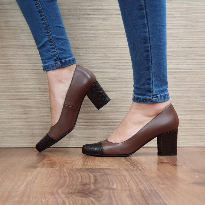 Pantofi cu toc Piele Naturala Guban Maro Evgenya D02513 1