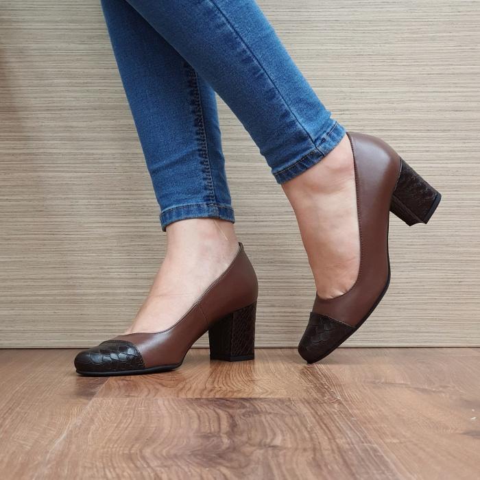 Pantofi cu toc Piele Naturala Guban Maro Evgenya D02513 2