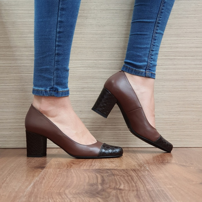 Pantofi cu toc Piele Naturala Guban Maro Evgenya D02513 0