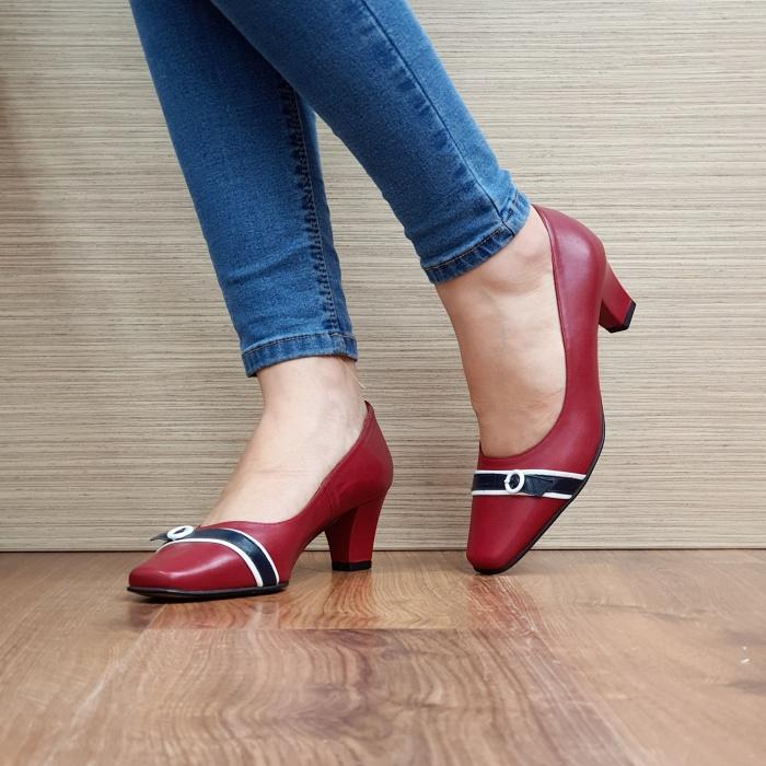 Pantofi cu toc Piele Naturala Guban Rosii Kellisa D02512 2
