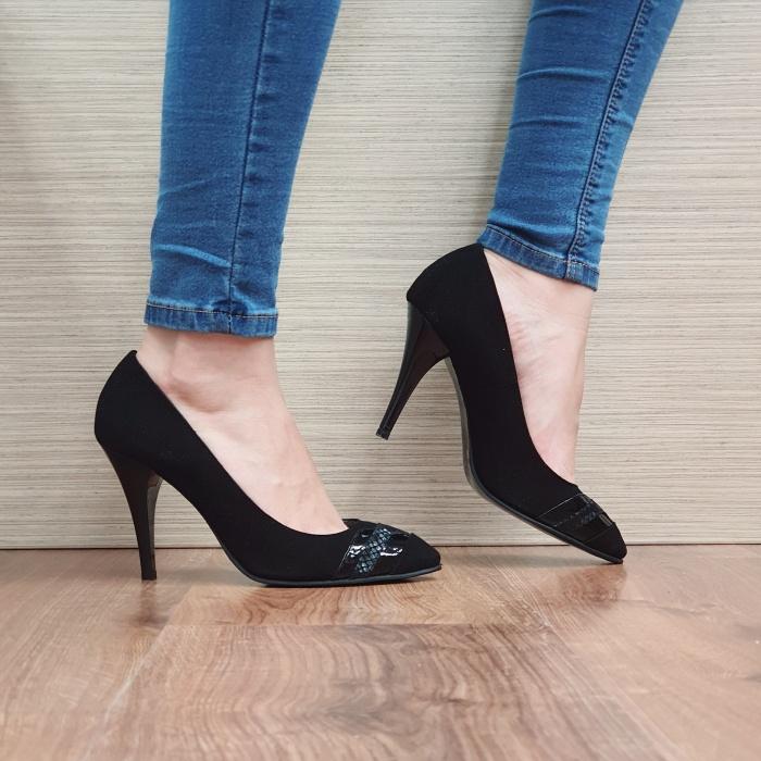 Pantofi cu toc Piele Naturala Moda Prosper Negri Correy D02501 0