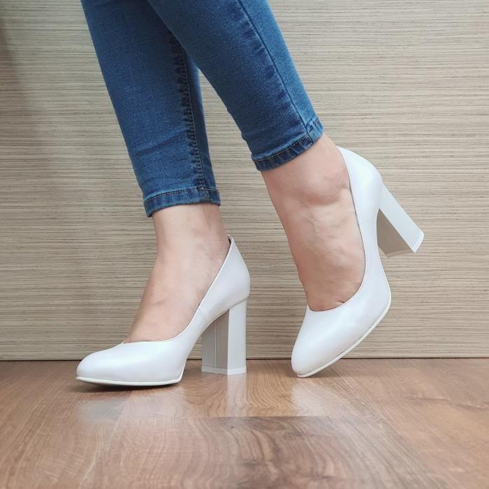 Pantofi cu toc Piele Naturala Moda Prosper Prisca D02471 2