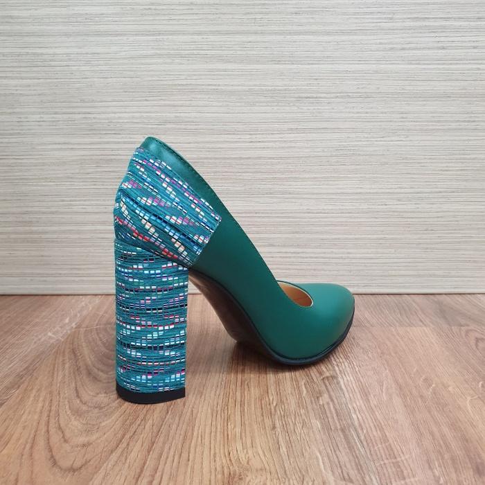 Pantofi cu toc Piele Naturala Moda Prosper Verzi Melisandre D02486 3