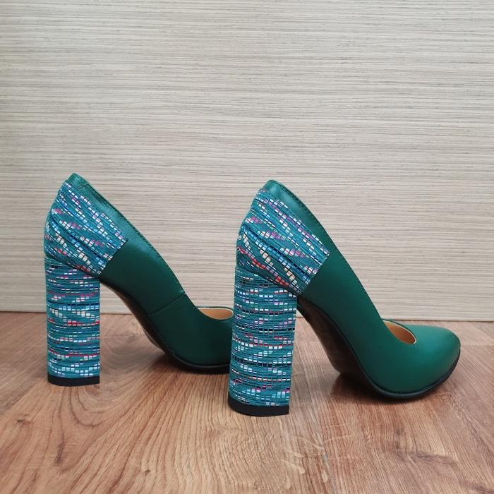 Pantofi cu toc Piele Naturala Moda Prosper Verzi Melisandre D02486 4