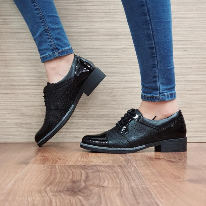 Pantofi Oxford Piele Naturala Negri Anita D02515 1