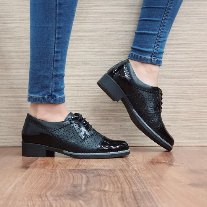 Pantofi Oxford Piele Naturala Negri Anita D02515 0