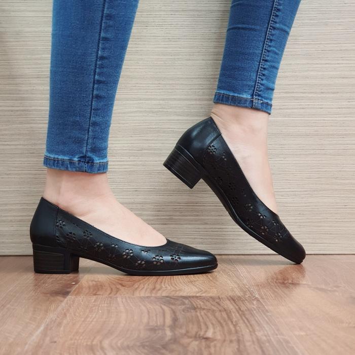 Pantofi Dama Piele Naturala Negri Judy D02455 0