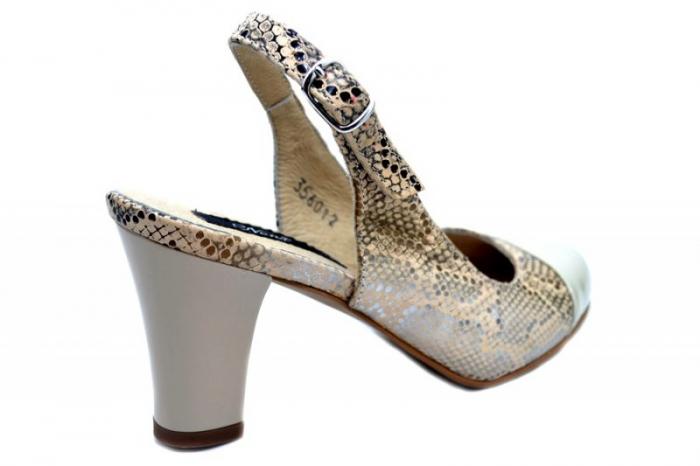 Pantofi Dama Piele Naturala Crem Aimee D01350 3