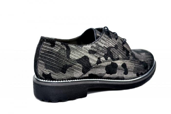 Pantofi Oxford Piele Naturala Negri Orana D01744 3