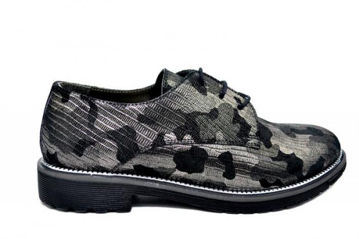 Pantofi Oxford Piele Naturala Negri Orana D01744 [0]