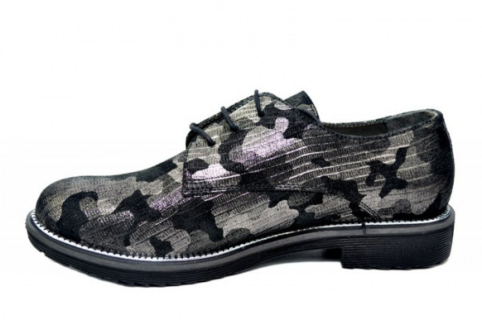 Pantofi Oxford Piele Naturala Negri Orana D01744 1